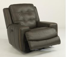 Wicklow Leather Power Gliding Recliner with Power Headrest