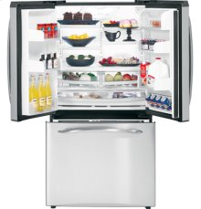 GE Profile™ 25.1 Cu. Ft. Stainless French Door Refrigerator with External Dispenser
