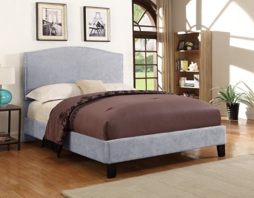 Emerald Home Colton Upholstered Bed Gray B126-13hbfbr-03