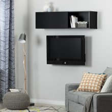 Wall Mounted Storage Unit - Black Oak