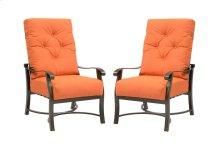 Emerald Home Chatham II Dining Chair Sunbrella Cayenne Od1062-20-05