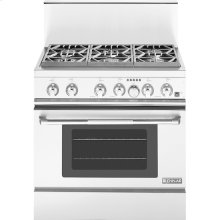 """36"""" Pro-Style® Dual-Fuel Range with Convection, Pro-Style® Stainless Handle"""