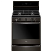 Whirlpool® 5.8 Cu. Ft. Smart Freestanding Gas Range with EZ-2-Lift™ Grates - Black Stainless