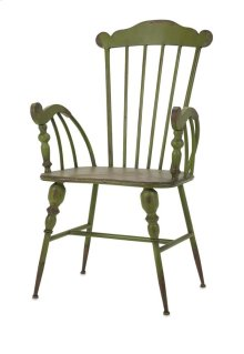Trenton Green Metal Arm Chair
