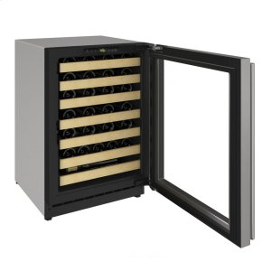 "U-Line 2000 Series 24"" Wine Captain(r) Model With Stainless Frame (Lock) Finish And Left-Hand Hinged Door Swing (115 Volts / 60 Hz)"