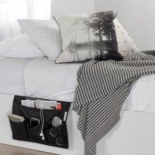 Canvas Bedside Storage Caddy - Black