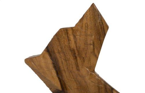 Wood Dog Sculpture