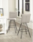 Demi Bar Height Stool with Taupe Finish Product Image