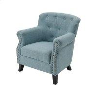 Ciela Sea Foam Linen Chair With Black Legs Product Image