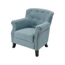 Ciela Sea Foam Linen Chair With Black Legs