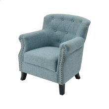 Ciela Sea Foam Linen Chair With Black Legs