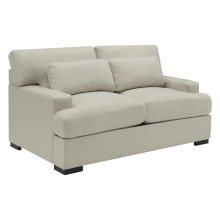 Becca Transitional Beige Loveseat