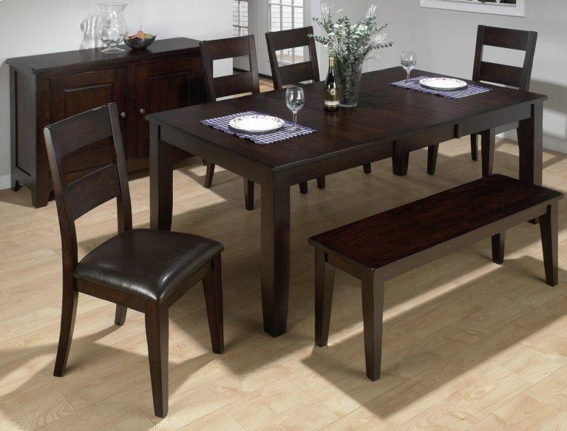 Dark Rustic Prairie Dining Table With Erfly Leaf