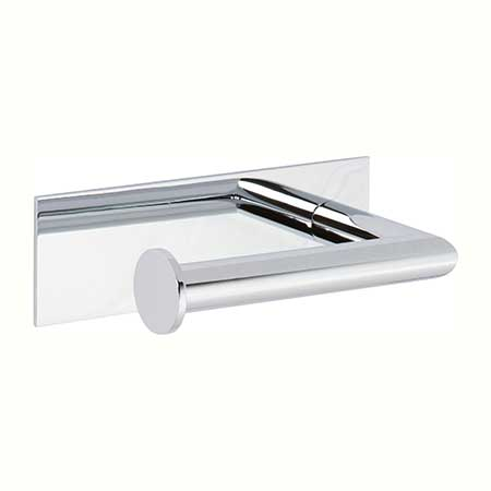 Polished Chrome Open Toilet Tissue Holder - Left