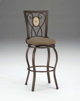 Brookside Oval Back Swivel Barstool
