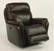 Zoey Leather Power Gliding Recliner with Power Headrest
