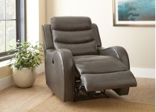 "Wyatt Power Recliner Chair, Grey, 35""x39""x40"""