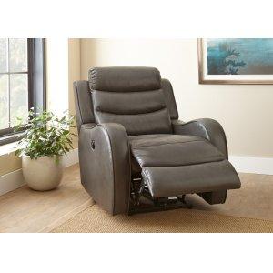 "Steve Silver Co.Wyatt Power Recliner Chair, Grey, 35""x39""x40"""