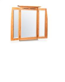 Aspen Tri-View Mirror with Inlay, Medium