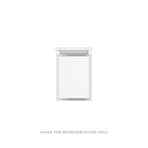 """Profiles 12-1/8"""" X 15"""" X 18-3/4"""" Framed Slim Drawer Vanity In Matte White With Polished Nickel Finish, Slow-close Full Drawer and Selectable Night Light In 2700k/4000k Color Temperature"""