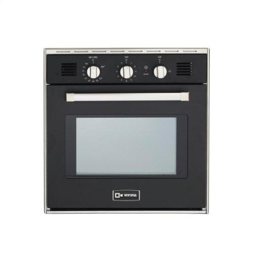 "Matte Black 24"" Gas Wall Oven"