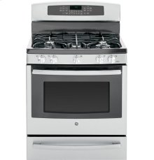 "GE Profile Series 30"" Free-Standing Self Clean Gas Range with Warming Drawer"