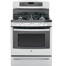 "GE Profile Series 30"" Free-Standing Self Clean Gas Range with Warming Drawer"
