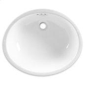 White Ovalyn Undercounter Sink