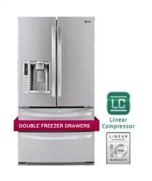 Ultra-Large Capacity 4 Door French Door Refrigerator with Ice & Water Dispenser