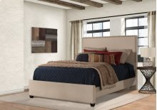 Megan Queen Bed - Sandstone Linen