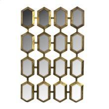 Metal Mirrored Wall Decor, Gold