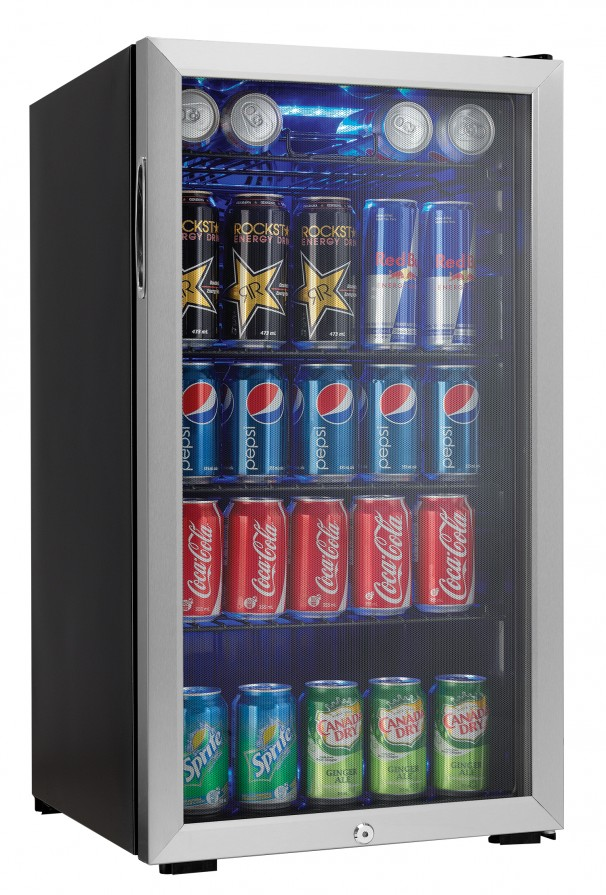 Danby 120 Beverage can Beverage Center  BLACK WITH STAINLESS STEEL