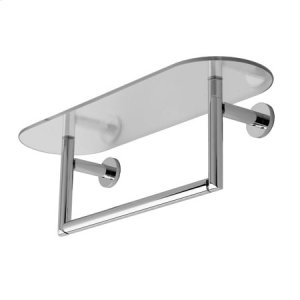 "Satin Nickel 24"" Shelf with Towel Bar"