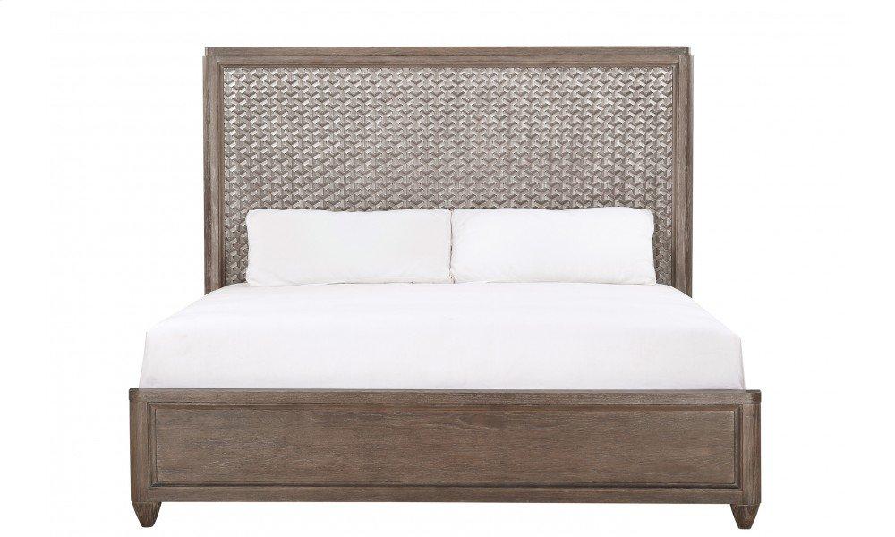 Geode Celestite King Panel Bed