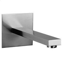 """Wall-mounted washbasin spout only Projection 7-3/4"""" 1/2"""" connections Drain not included - See DRAINS section Requires mixer control 26505, 26609+26612, 26705, or 26809+26812 Max flow rate 1"""