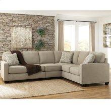 Signature Design by Ashley Alenya 3-Piece Right Side Facing Sofa Sectional in Quartz Microfiber [FSD-1669SEC-3RAFS-QTZ-GG]