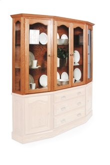 Classic Canted Hutch Top, Extra Large, Antique Glass