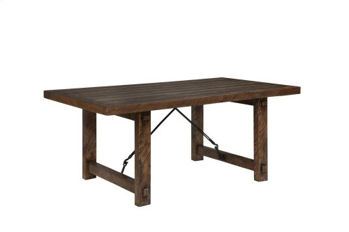 Rustic Lodge Fixed Top Dining Table