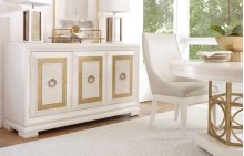 Tower Suite - Pearl Finish Credenza