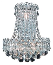 1901 Century Collection Wall Sconce with Neck Chrome Finish