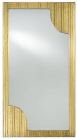 Morneau Brass Large Mirror - 48h x 26w x 1.75d
