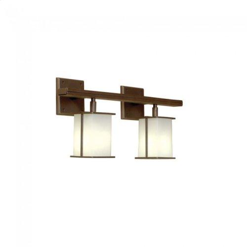 Lantern Vanity - V455-26 White Bronze Medium