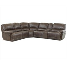 Sectional, Brown, 7 Piece