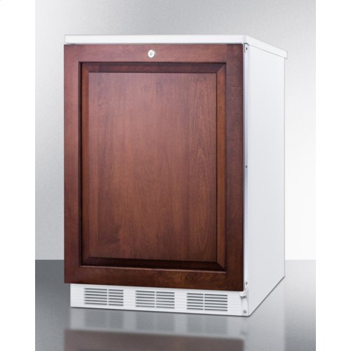 Built-in Undercounter Refrigerator-freezer for General Purpose Use, W/dual Evaporator Cooling, Lock, Integrated Door Frame for Overlay Panels, White Cabinet