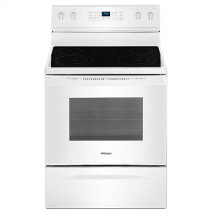 5.3 cu. ft. Freestanding Electric Range with Fan Convection Cooking - WHITE