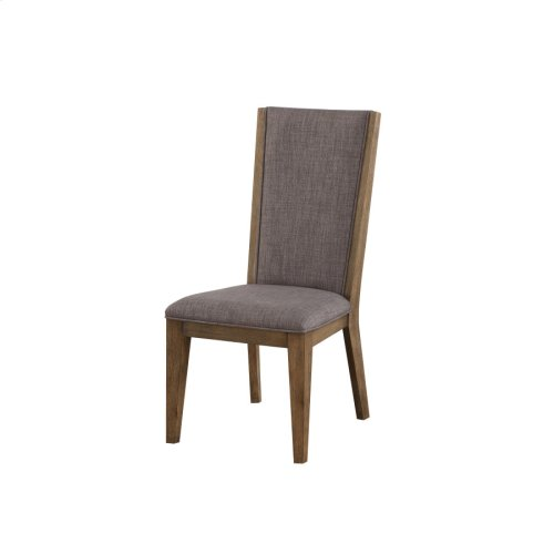 2-pack Side Chair W/upholstered Seat & Back #mason Steel-weathered Gray Finish-rta
