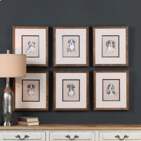 Small Breed Sketches Framed Prints,