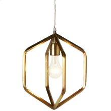 Gold Hexagons Pendant. 60W Max. Plug-in with Hard Wire Kit Included.