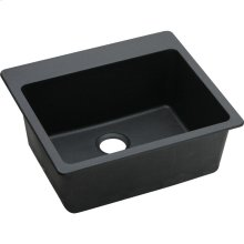 "Elkay Quartz Classic 25"" x 22"" x 9-1/2"", Single Bowl Drop-in Sink, Black"