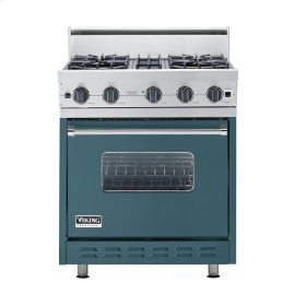 "Iridescent Blue 30"" Open Burner Range - VGIC (30"" wide, four burners)"